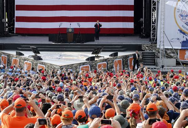 Trump talked politics with Boy Scouts during speech at National Scout Jamboree