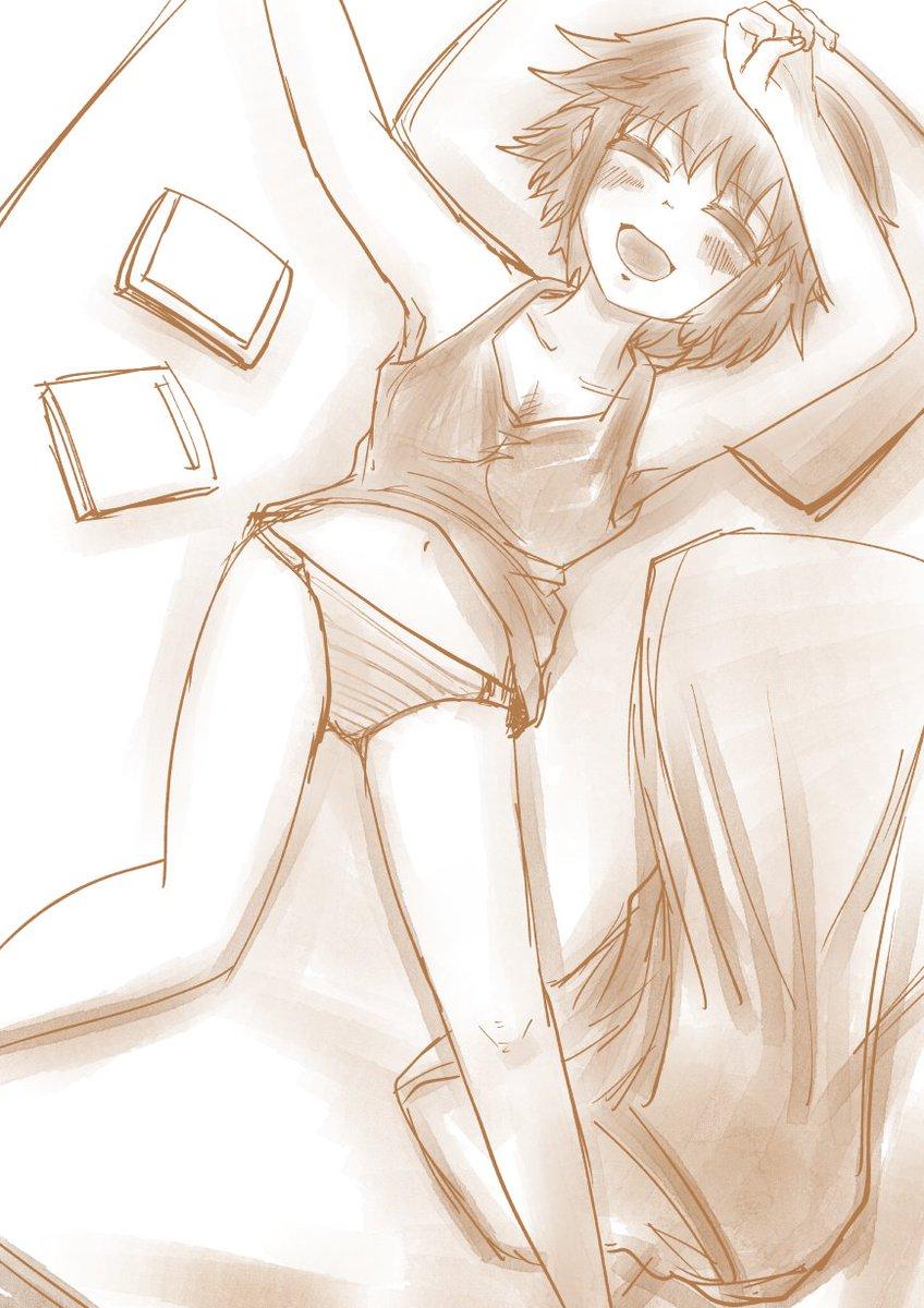 エアコンの効いた部屋で寝るさわ子の落書き #ド嬢