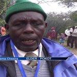 Elders from Pokot community hold prayers for peace
