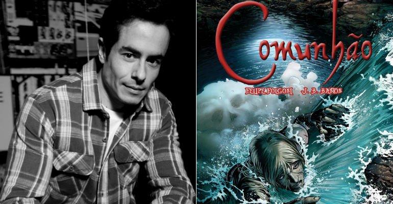Felipe Folgosi. Foto do site da Caras Brasil que mostra Multitalentoso! Além de ator, Felipe Folgosi (@folgosi) também é escritor