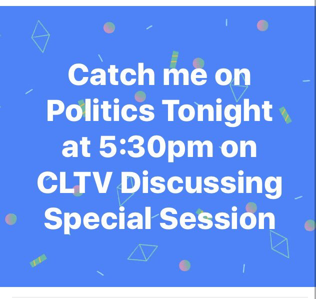 test Twitter Media - Tune in tonight as I join Paul Lisnek on Politics Tonight on CLTV at 5:30pm. #CLTV #PoliticsTonight #PaulLisnek #SpecialSession #SB1 https://t.co/18HCMzOlFr