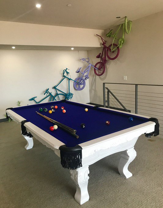 In love with our new pool table!!😍😍 https://t.co/IEzYzOQg29