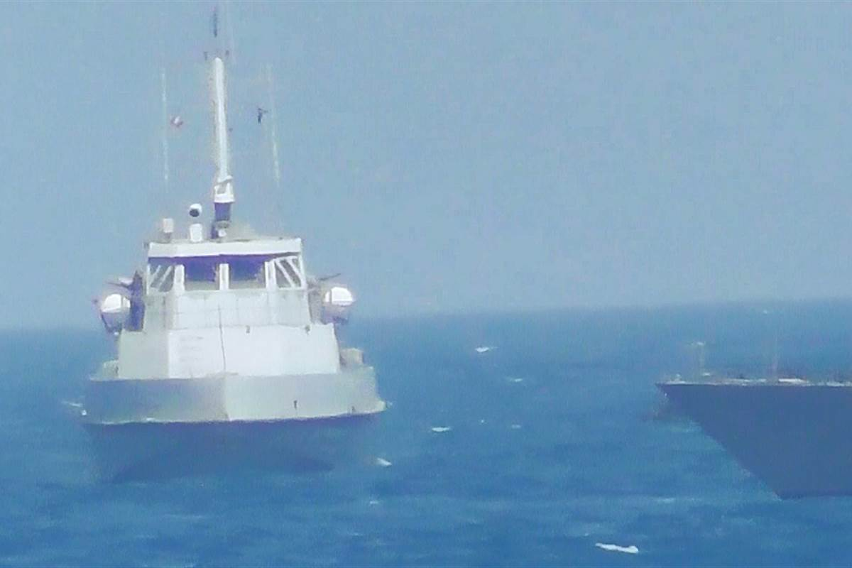 U.S. Navy fires warning shots at Iranian military vessel in Persian Gulf