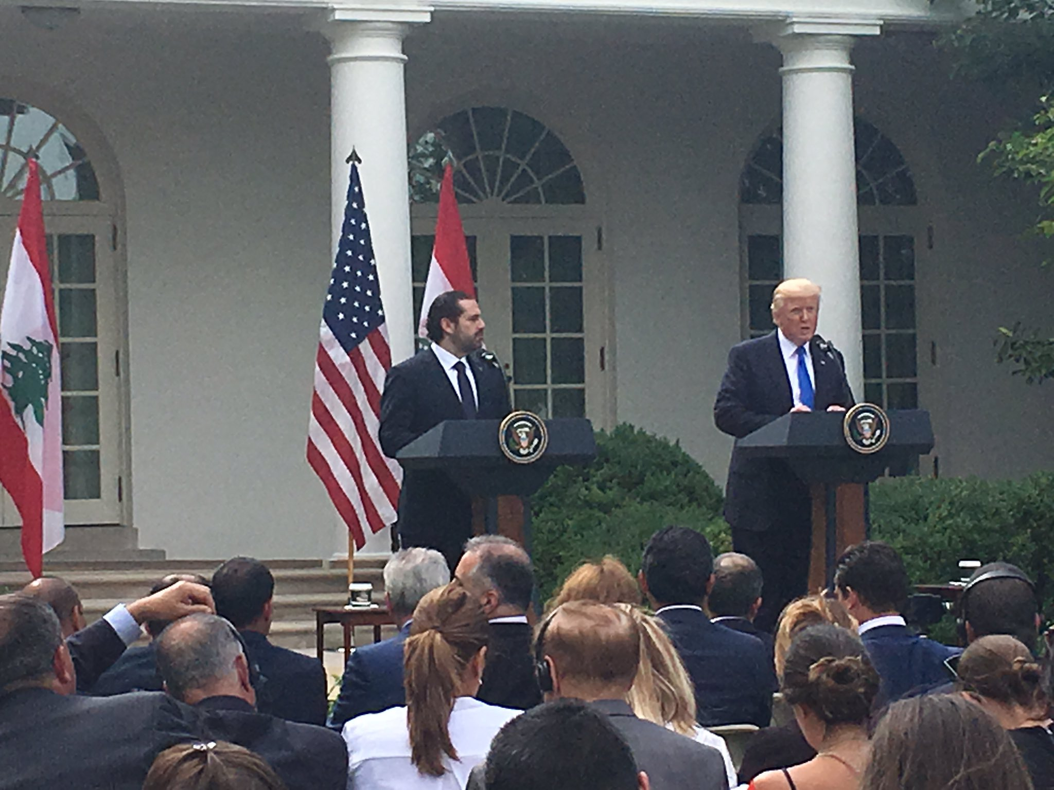 .@POTUS and the Prime Minister of Lebanon made statements and took questions in @WhiteHouse Rose Garden https://t.co/vFoaMRvT0O