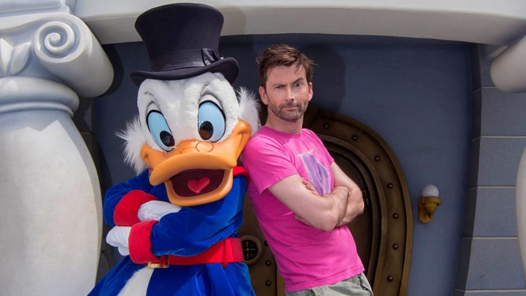 #DuckTales' David Tennant Visited Scrooge McDuck at @Disneyland