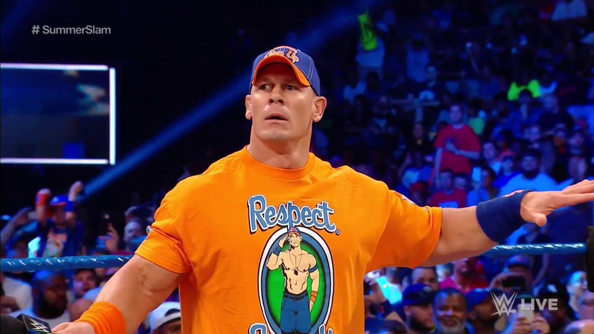 Does @JohnCena foresee a 17th WORLD CHAMPIONSHIP in his future? #SDLive #SummerSlam