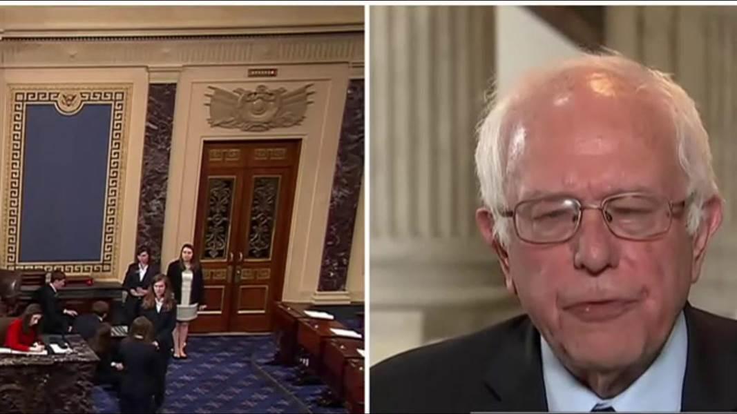 """Sen. Sanders said Trump is """"very unfit"""" to be president."""