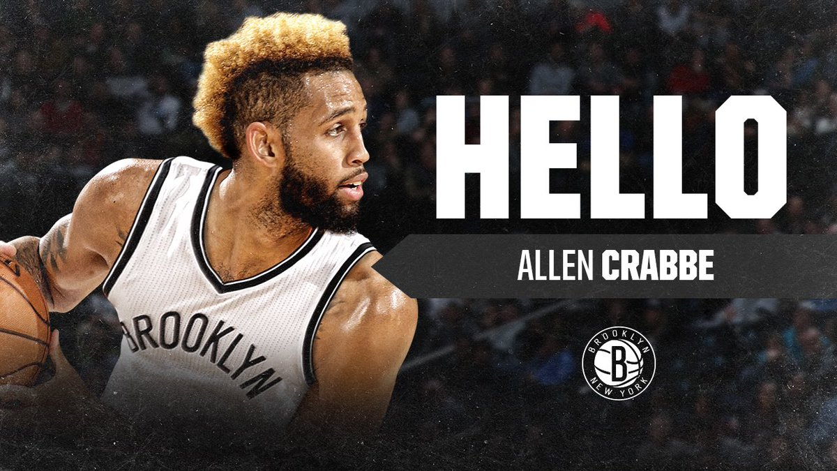 Official! Help us welcome @allencrabbe, Nets Nation!