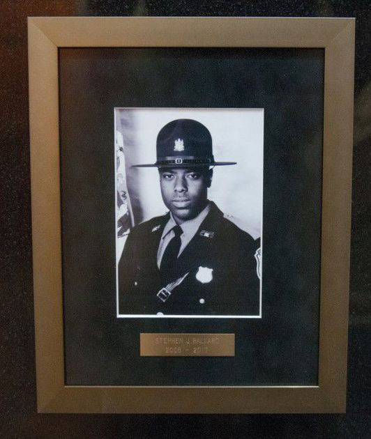 Cpl. Stephen Ballard joins Memorial Wall at Delaware State Police Museum