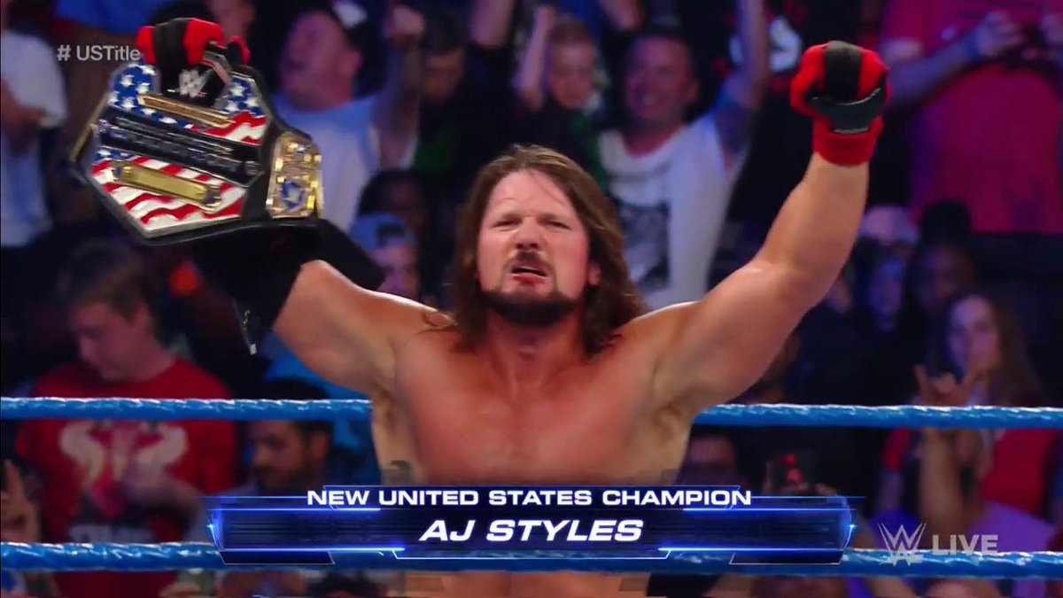 Did @AJStylesOrg just STEAL ONE?! We have a NEWWWWW #USChampion, and he is PHENOMENAL! #SDLive #USTitle