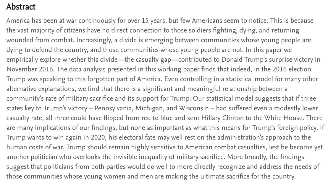 New paper finds that war cost Clinton the White HouseMore