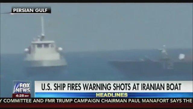 USS Thunderbolt fires warning shots at Iranian vessel