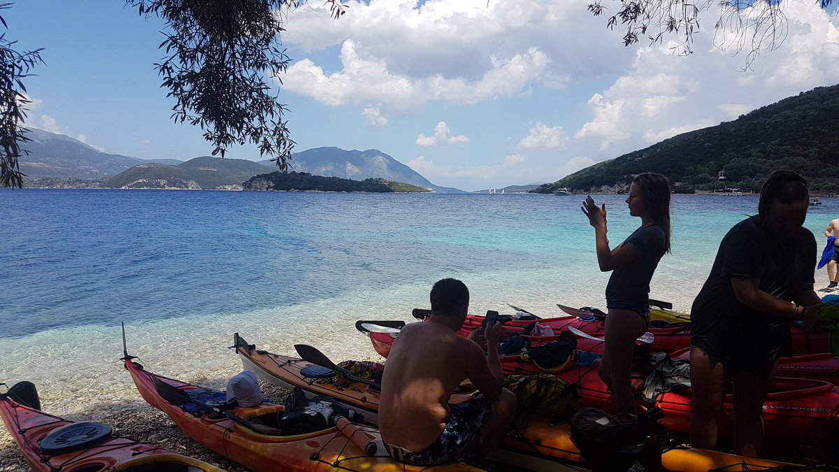 test Twitter Media - Day 2 kayaking done - sea crossing to Meganisi from Lefkada - now another amazing campsite to relax at.....@CCCGreece2017 @OutlookExpeds https://t.co/drOpCubjPk