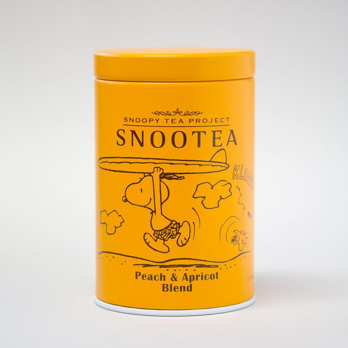 【SNOOTEA新商品】SNOOTEAピーチ&アプリコットブレンドスヌーティーの限定缶シリーズの中でも大人気の「ピーチ&