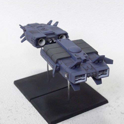 ワンフェスの販売品/秘密結社・宇宙戦闘母艦「装甲騎兵ボトムズ」より。全長約150mmのアニメスケールで、5000円です。