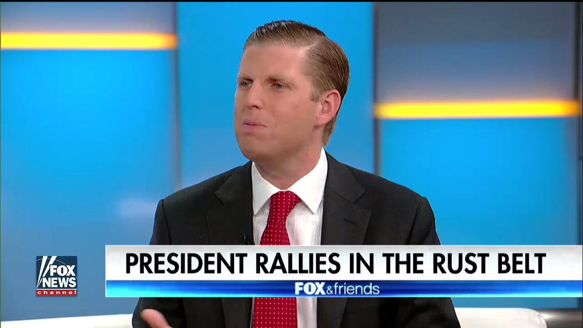 """.@EricTrump on leaks """"It is the greatest witch hunt of all time."""" #FoxandFriends"""