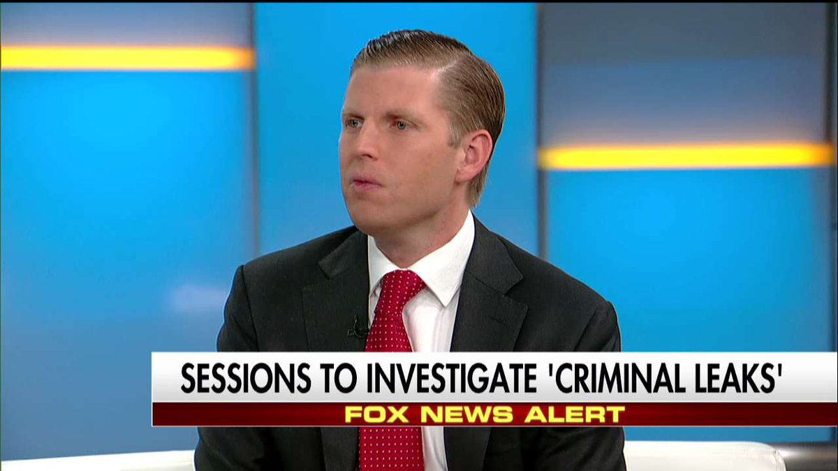 """.@EricTrump on leaks """"How has @AGLynch not been subpoenaed?"""" #FoxandFriends"""