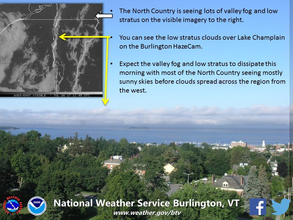 test Twitter Media - Cool visible satellite imagery shows valley #fog & low stratus. Burlington HazeCam shows low stratus clouds over Lake Champlain. #vtwx #nywx https://t.co/mTzsva8FLQ