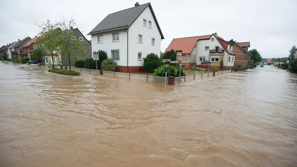 Heavy rain leads to flooding in parts of Germany