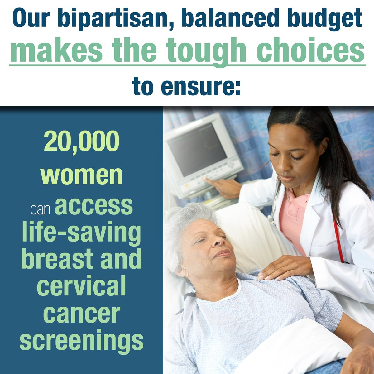 test Twitter Media - We did our jobs and enacted a bipartisan, balanced budget to ensure women have access to life-saving cancer screenings. #twill https://t.co/b8IhaPQx20