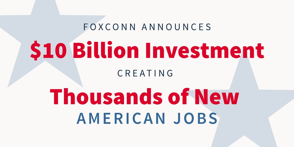 President Trump Welcomes Foxconn to the White House for a Major Jobs Announcement