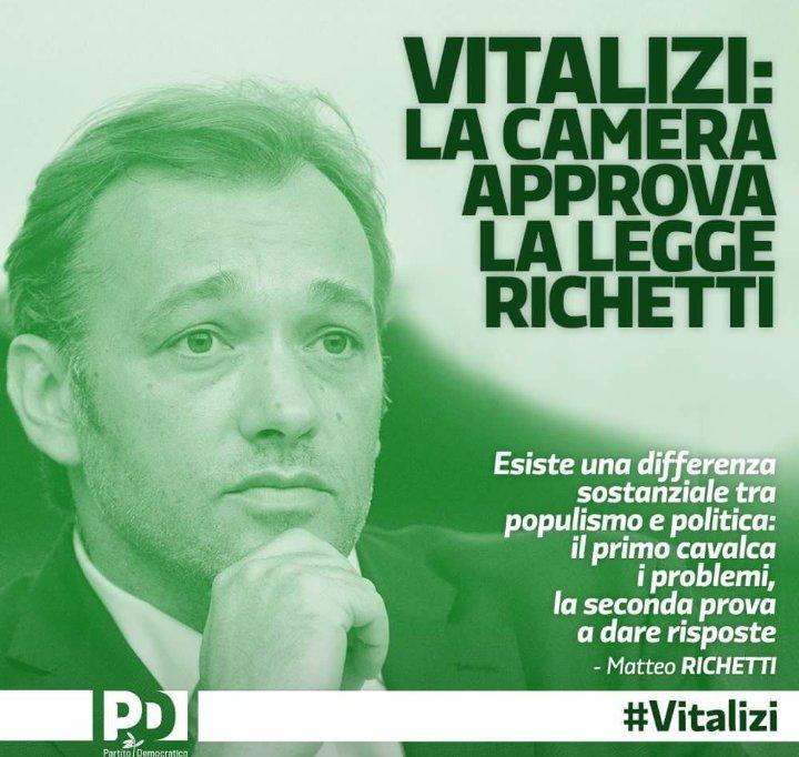 #LeggeRichetti