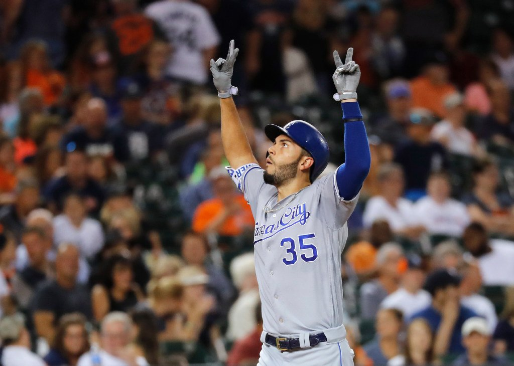 Eric Hosmer is the 1st player in @Royals history with 5 hits, 5 runs and 5 RBI in a game.