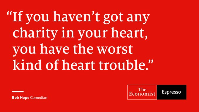 @TheEconomist: Our quote of the day is from American comedian Bob Hope. Download our Espresso app here https://t.co/HyT2GVzy6k https://t.co/5HeQq4InP4