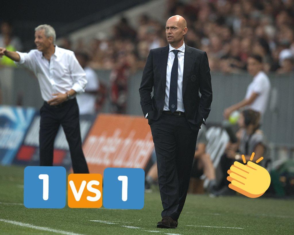 test Twitter Media - Officiële debuut als hoofdcoach van Ajax ✅. ➡️ Op naar volgende week!   #UCL #nicaja https://t.co/rbTlwP3yEq
