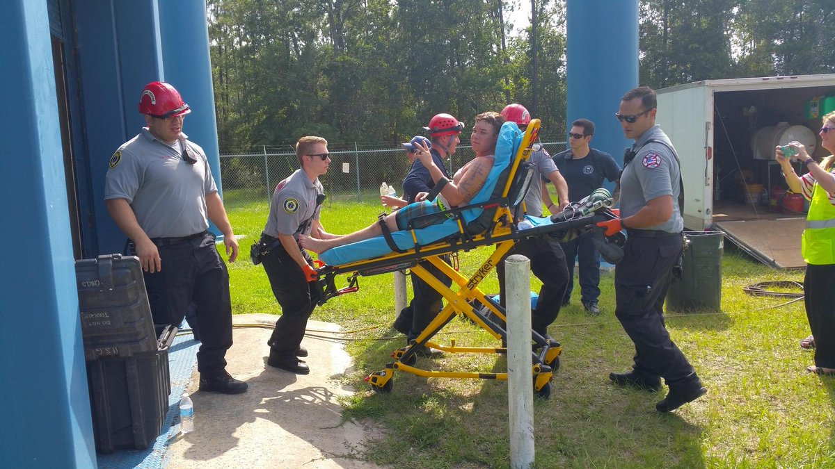 Worker rescued from top of Palm Coast water tower