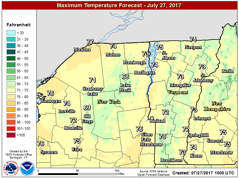 test Twitter Media - Expect another below normal temperature day today. Highs in the mid 70s.  #vtwx #nywx https://t.co/IxSfvNfML0