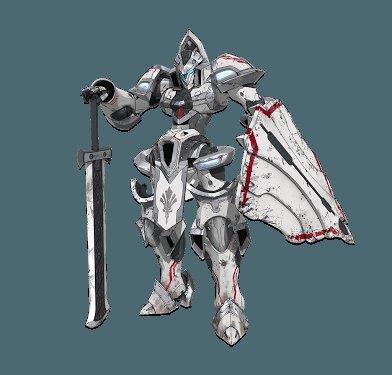 謎の親近感はお前か盾持ちフード被ったっぽい顔(?)の騎士型ロボRRRはスポーツ×3だから装甲が薄いから盾持ちなんだっけか