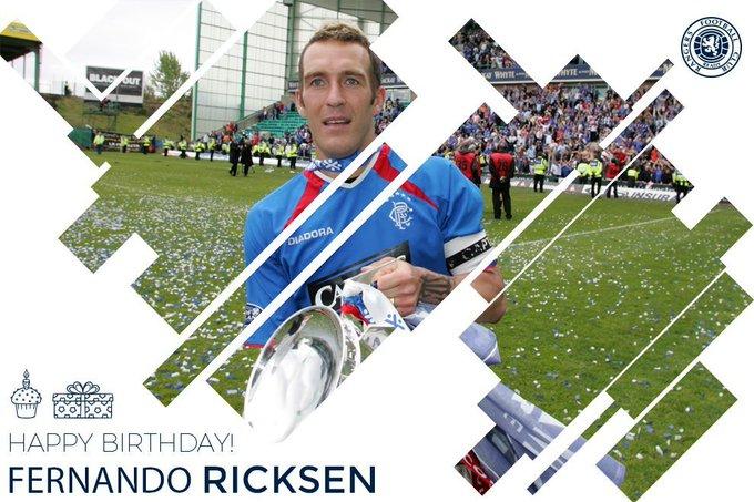 Please join us in wishing a Happy Birthday to Rangers legend Fernando Ricksen.