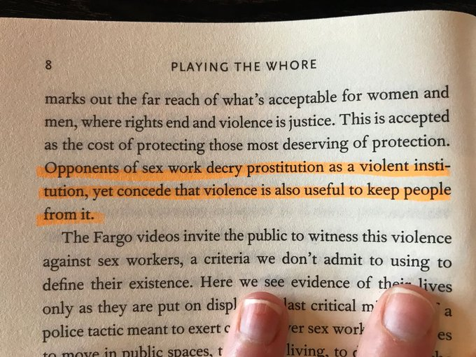 """1 pic. """"Playing The Whore"""" by @MelissaGira   #SexWorkIsWork #StopTheStigma https://t.co/BZCKB9WA1L"""