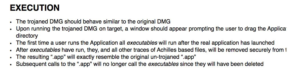 """RELEASE CIA 'Achilles' tool to infect Mac OS X disk images ("""".dmg"""") #vault7"""