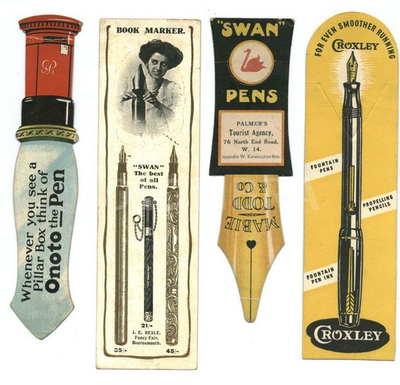 Vintage Bookmarks Advertising #FountainPens c.1910-1930. https://t.co/MntcKvXqe2