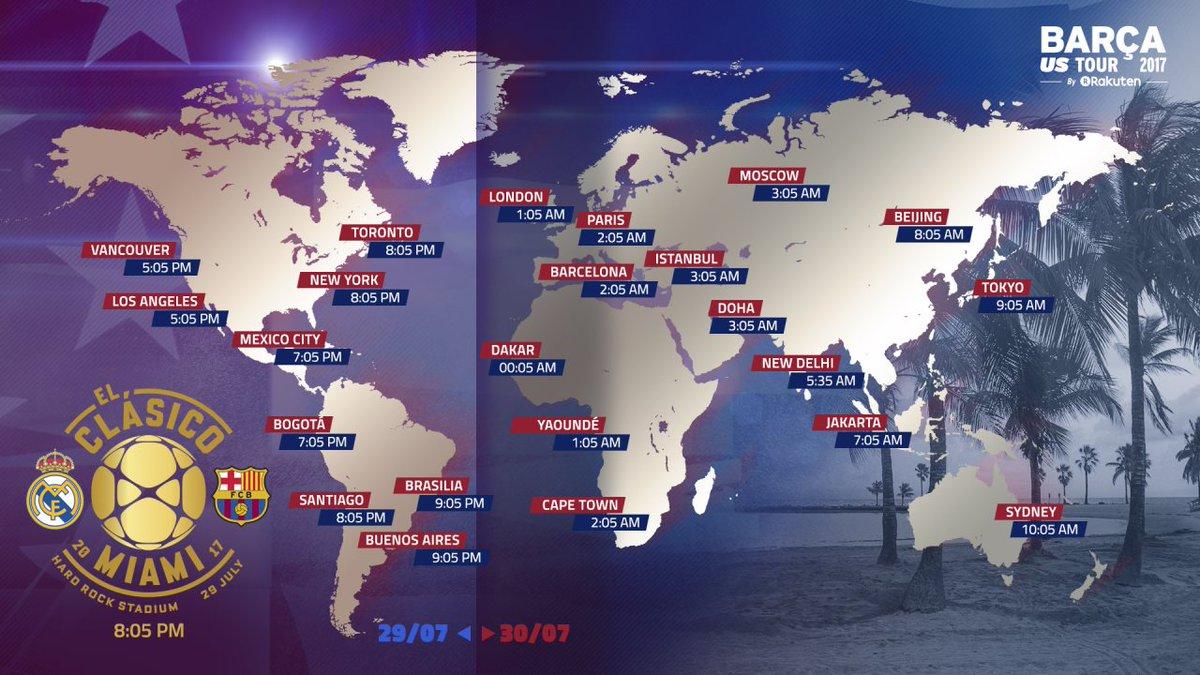 ⏰ Guía rápida con los horarios del Clásico de la #ICC2017 alrededor del mundo 👉