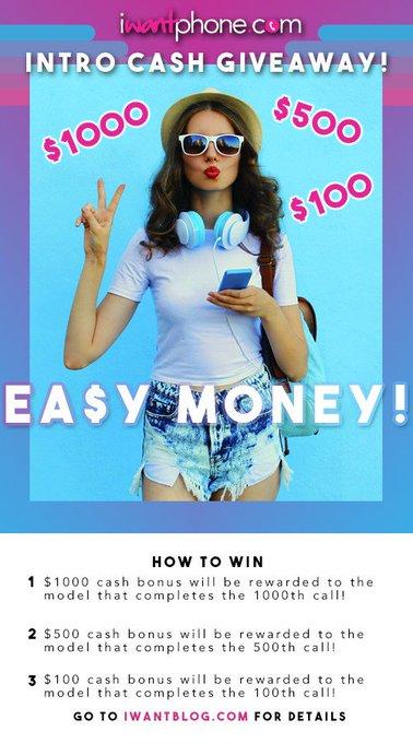 iWantPhone Intro Cash Giveaway! https://t.co/0JkZA3wqTp https://t.co/CCpyh7WVZJ