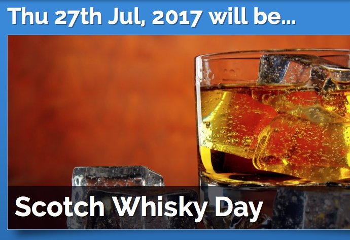 Today is International Scotch Whisky Day......As if we needed a day.... https://t.co/yV6wmNwbR5