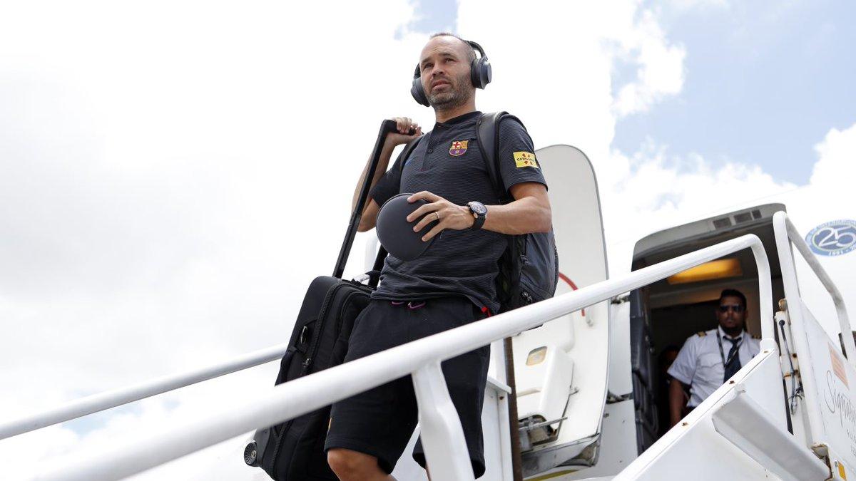 🛫🛬 El primer equipo ya está en Miami 👉 🔴🔵 #BarçaUSTour
