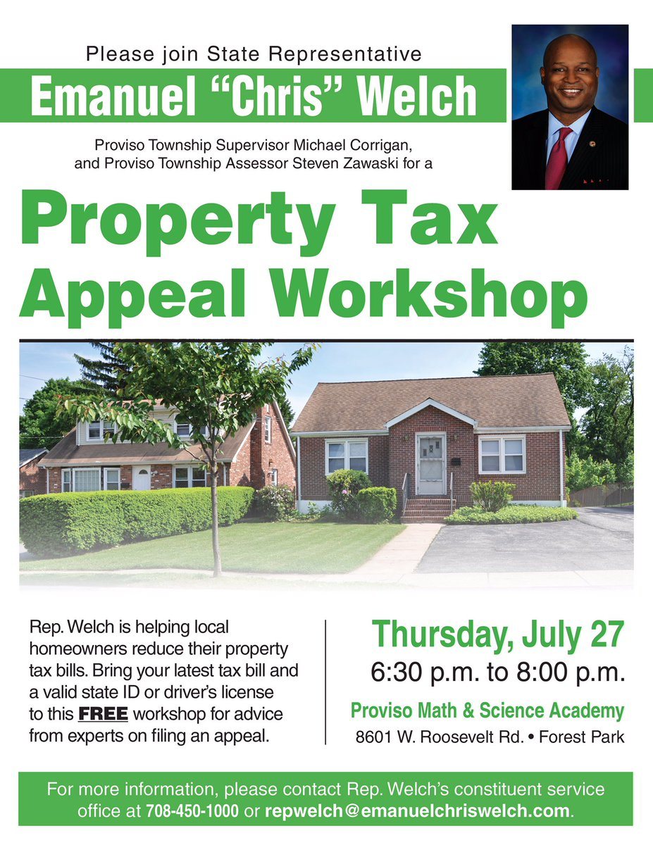 test Twitter Media - Please join me tonight for this important event regarding property taxes.  I will also provide important updates on events in Springfield. https://t.co/ogNim7C97Q