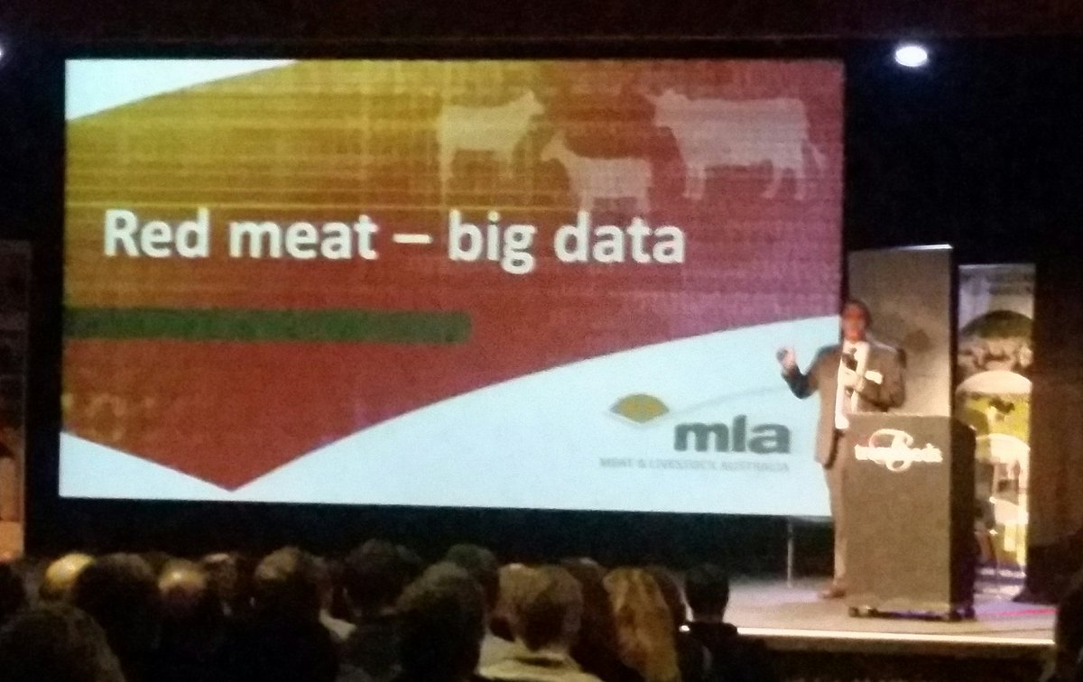 Richard Norton presenting big data...
