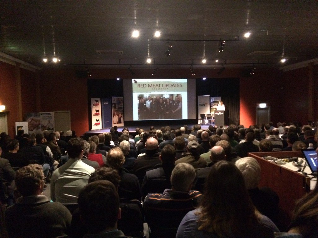 We have a packed house today at #RedMeatUpdates -...