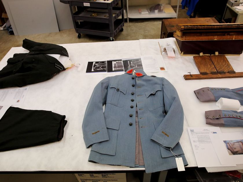Behind the scenes at Soldiers Memorial, artifacts get white-glove treatment