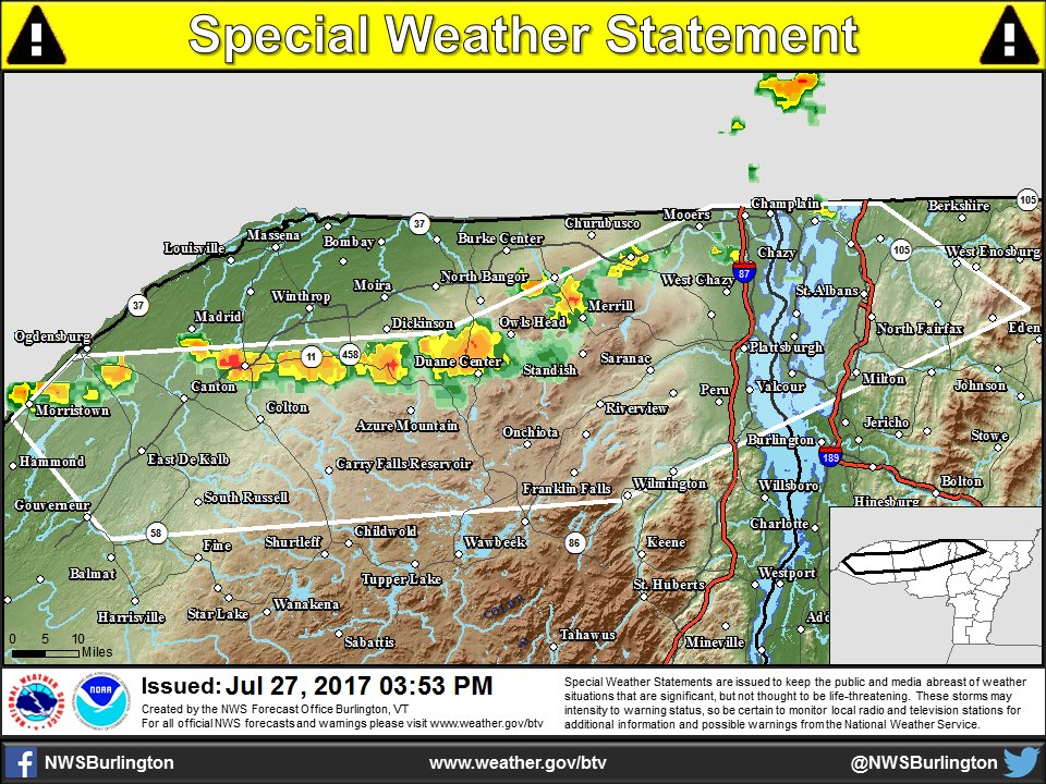 test Twitter Media - 3:55 PM - A special weather statement has been issued for parts of Northern NY and VT.   https://t.co/uziulLdGLs https://t.co/4WVBn6oPTC