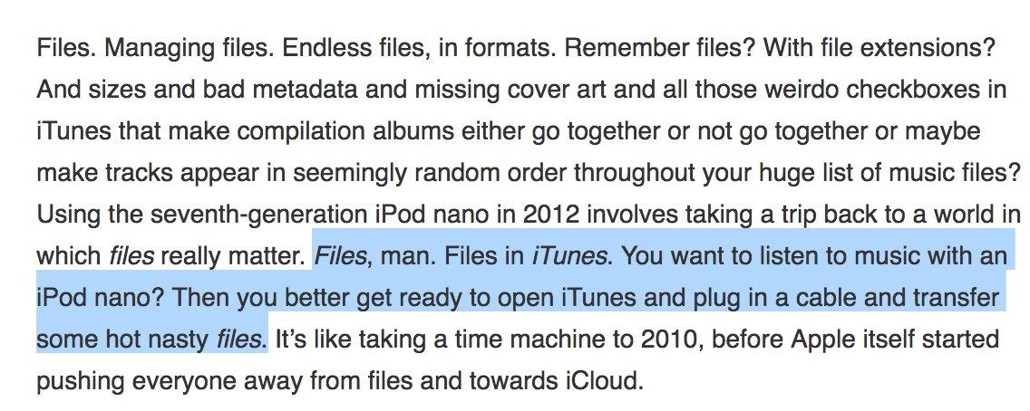 RIP iPod nano. Also: _files_. https://t.co/mbp7XemOnV https://t.co/JP0YA1oAU6