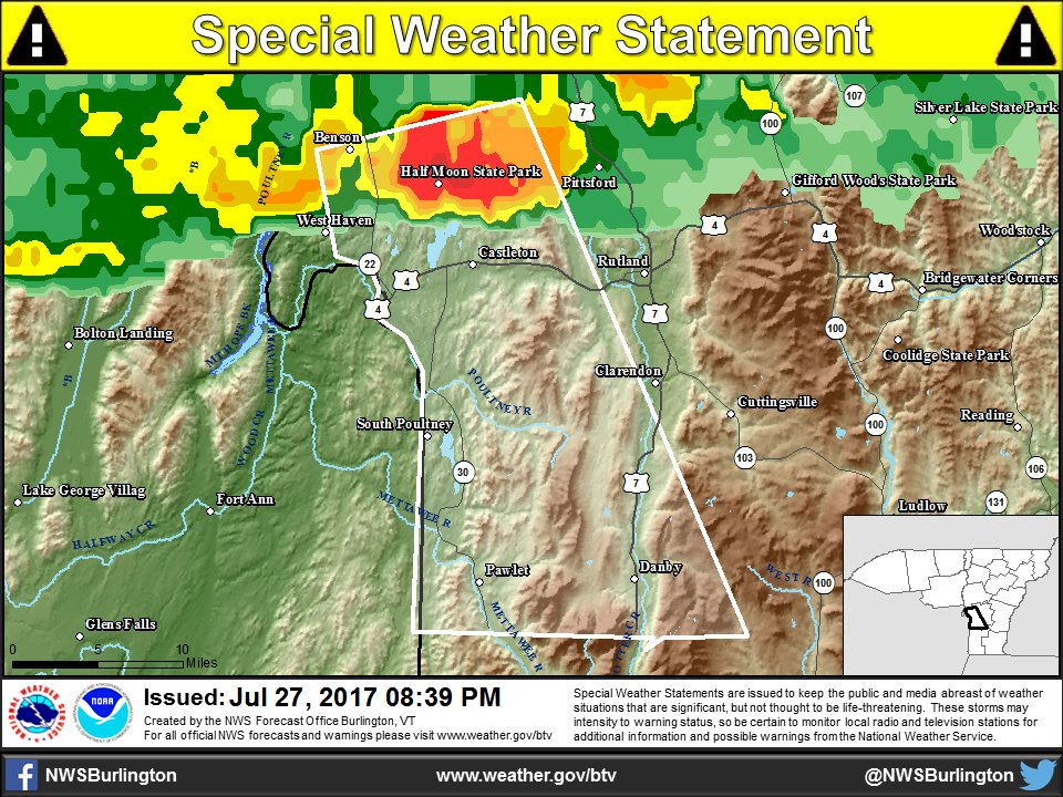 test Twitter Media - 8:40 PM - A special weather statement has been issued for Rutland County, Vt.   https://t.co/uziulKW5TU https://t.co/xMKynAFsRQ