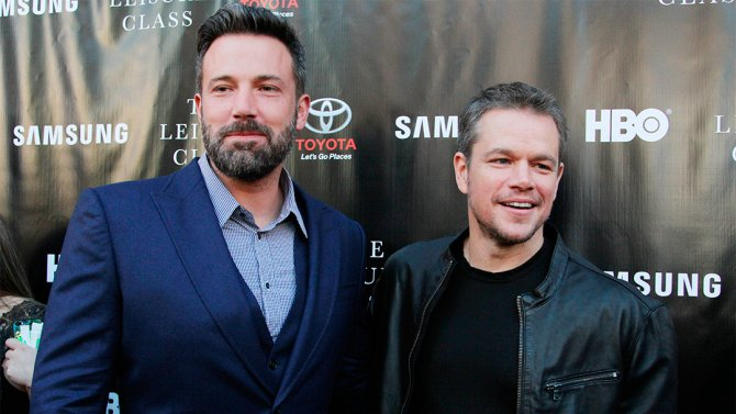 Ben Affleck and Matt Damon are bringing their Boston pride to @Showtime