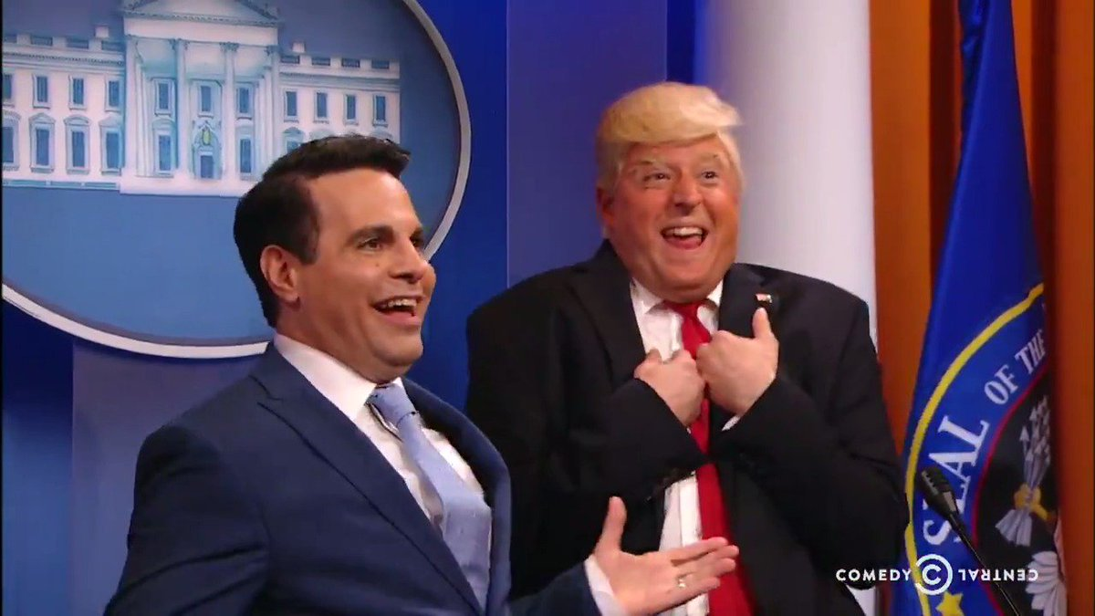 .@LateNightDonald has a HUGE treat for reporters on tonight's new @PresidentShow.