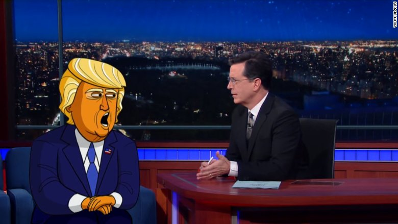 Stephen Colbert created an animated show about Donald Trump and it's coming to Showtime